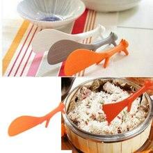 Милый Кухня белка Форма ложка-лопатка для риса ложка Новинка ковш нелипкий лопатка для риса столовый прибор ложка cuchara Цвет аль-Азар