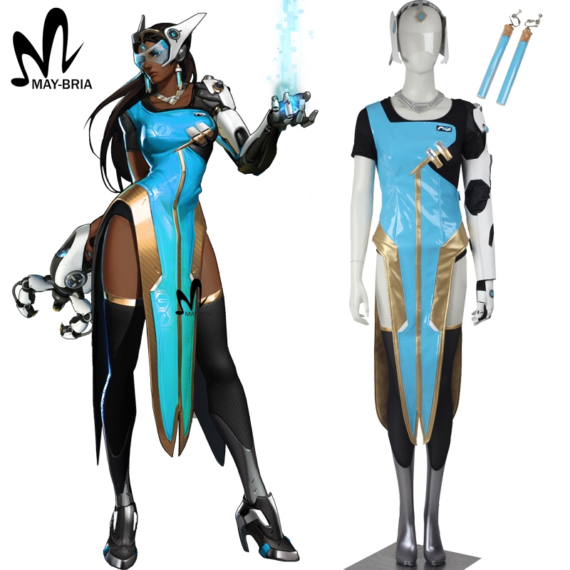 Popular game OW cosplay soldier 76 Symmetra cosplay costume Halloween costumes for Adult women COSPLAY Symmetra suit custom made