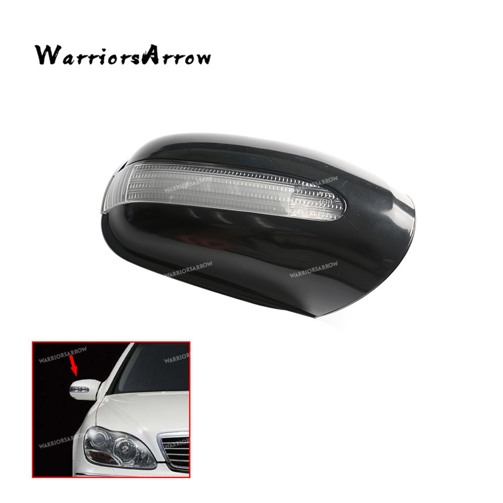 WarriorsArrow Front Right Door Mirror Housing Cover w/ Turn Signal Light Lamp For Mercedes S430 <font><b>S500</b></font> CL500 2000 2001 2208100264 image