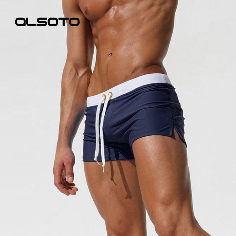 2018 nuevo traje de baño Sexy para hombre, sunga traje de baño, bañador caliente para hombre, calzoncillos de baño, pantalones cortos de playa, maillot de bain