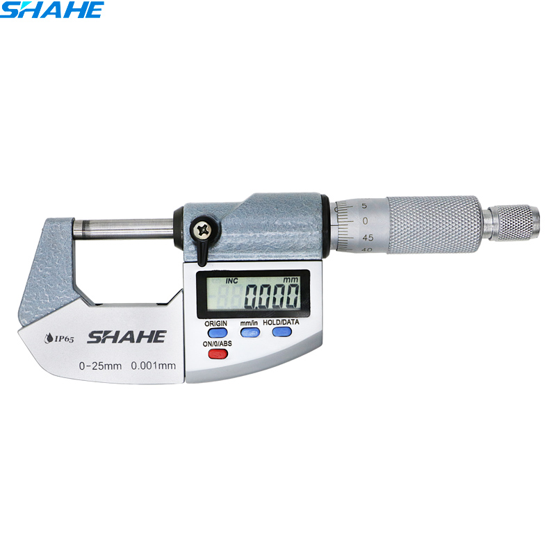 SHAHE Good Quality 0 25 mm 0 001 mm micrometer IP65 Waterproof Digital Outside Micrometer digital
