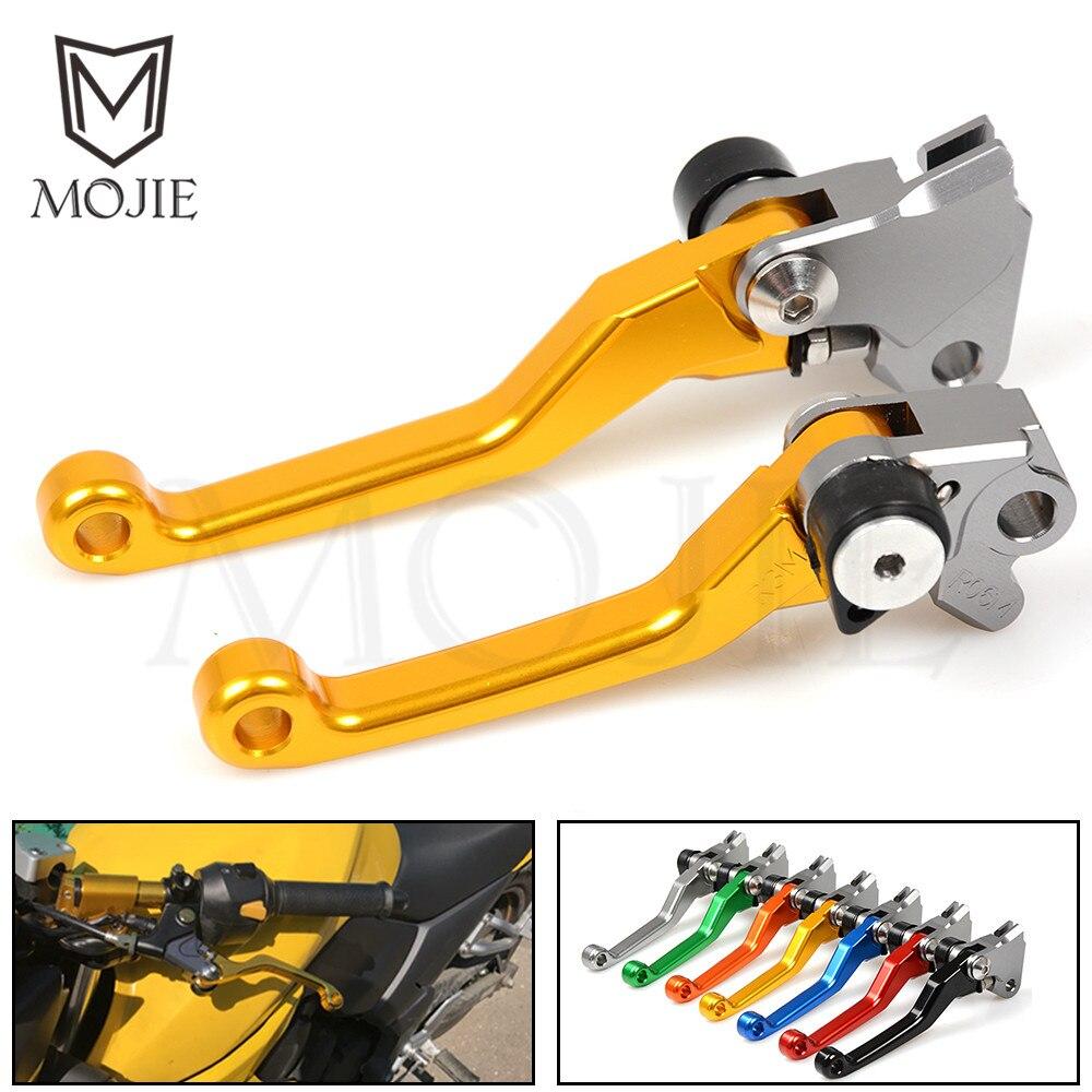 Billet Pivot Foldable Clutch Brake Lever Dirt Bike Levers For Suzuki RM 125 250 RM125 RM250 96-03 Dirt Bike Motorcycle Black