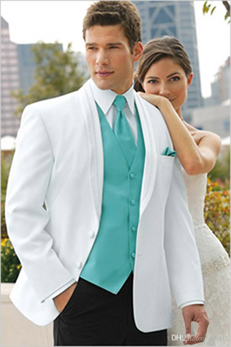 Customize groomsman white/ivory/beige revival men tuxedos wedding ...