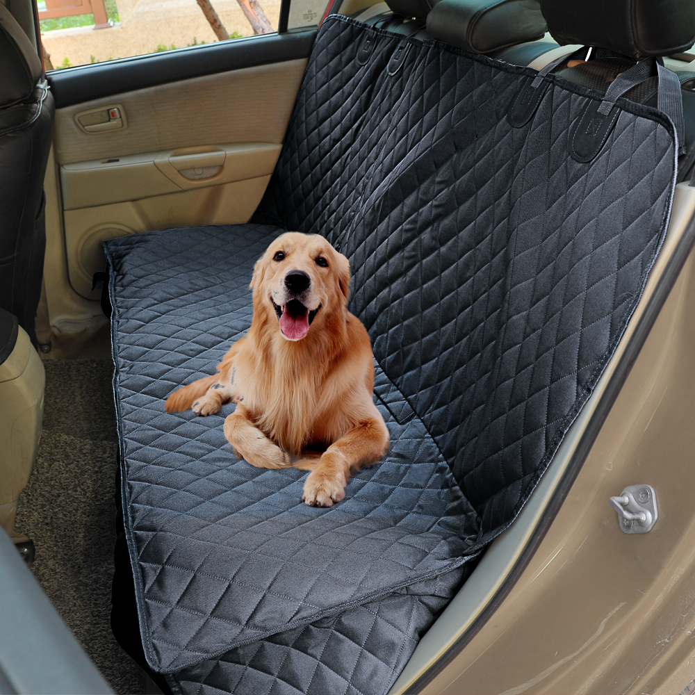 Car Dog Seat Cover For Back Seat 100 Waterproof Nonslip 600D Heavy Duty Rear Bench Car