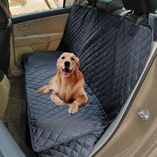 Автомобиль чехол для сиденья, для собак для заднего сиденья 100% водостойкий нескользящий 600D сверхмощный задний скамья автомобиля чехлы для сидений автомобиля гамак сумка для перевозки животных