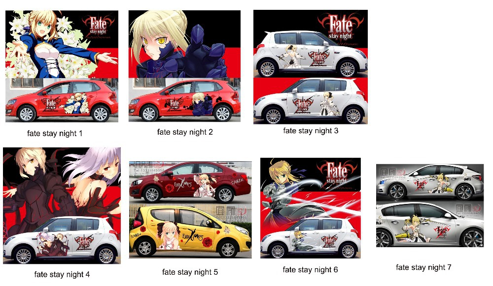 Itasha 2 pieces custom anime sticker fate stay night car stickers fate zero car vinyl sticker saber lily car sticker on aliexpress com alibaba group