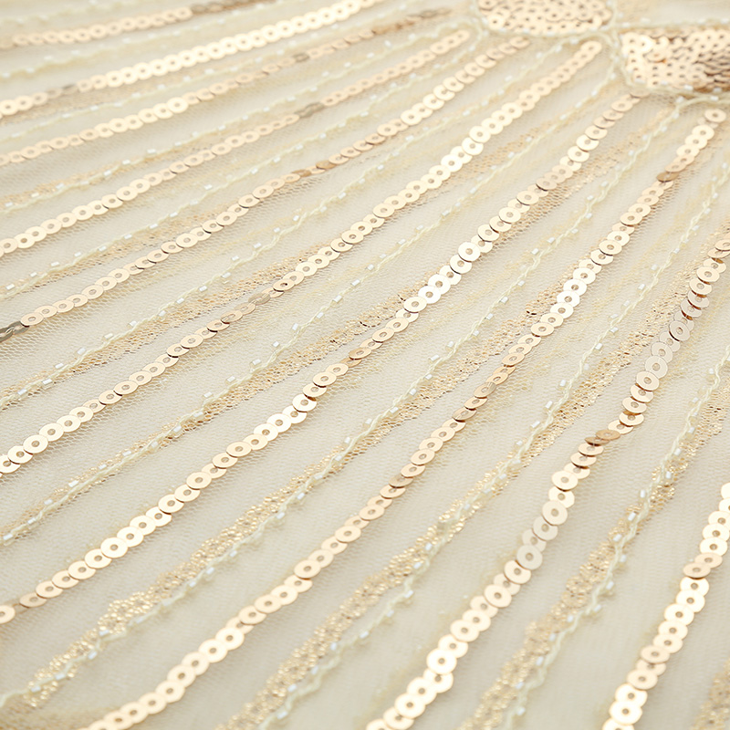 Women 1920s Shawl Poncho Sheer Mesh Shiny Sequined Echarpe Femme ... fa0167768c2b