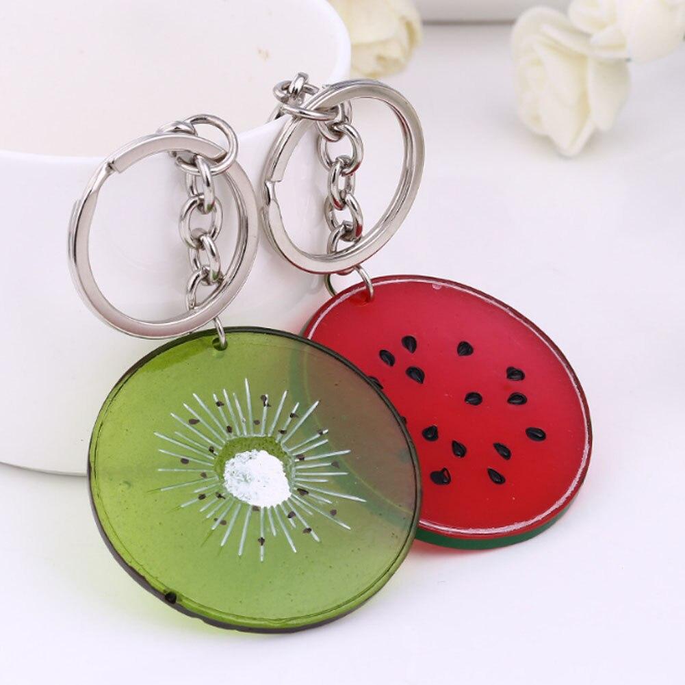 1 Piece!!! 8 Styles! Fresh Fruit Keychain Apple