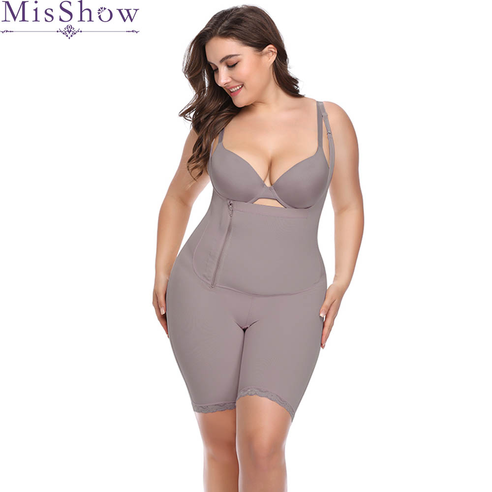 2019 Gray Bodysuit Shapers   Bustier     Corset   Plus size Shapewear   corset   Waist trainer Slimming bodysuit Tummy Shaper Panties womens