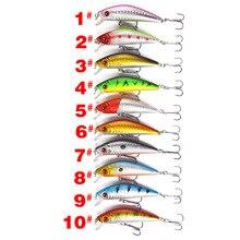 100pcs Floating Fishing Minnow Lures 10 Colors 7cm/7.9g Plastic Fly Pesca Wobbler Hard Bait Crankbait