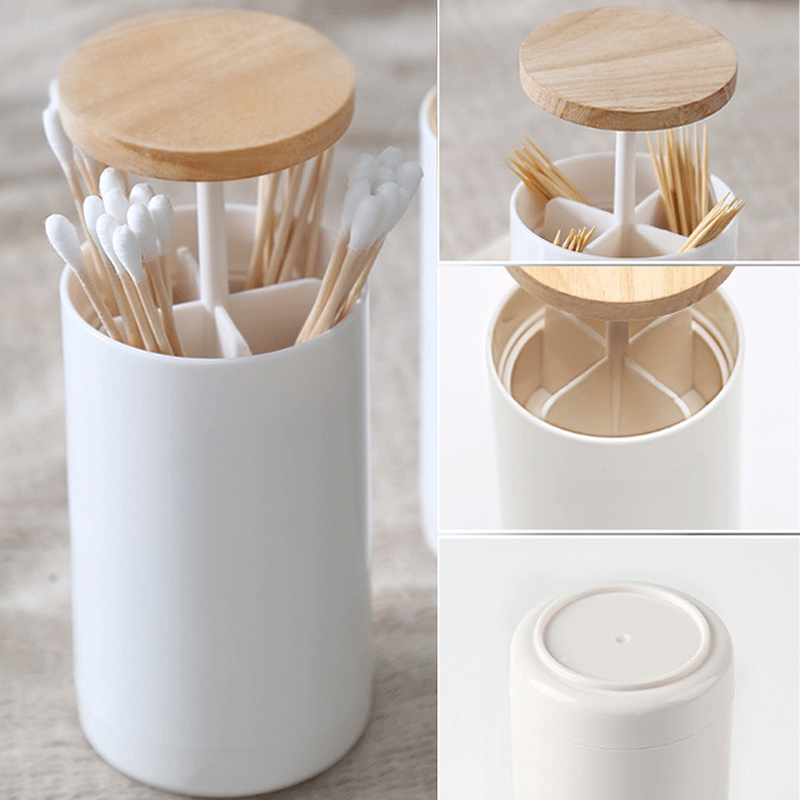 Nordic Style Creative Automatic Wooden Plastic Toothpick Holders Toothpick Stand Toothpick Box Toothpick Holders(China)