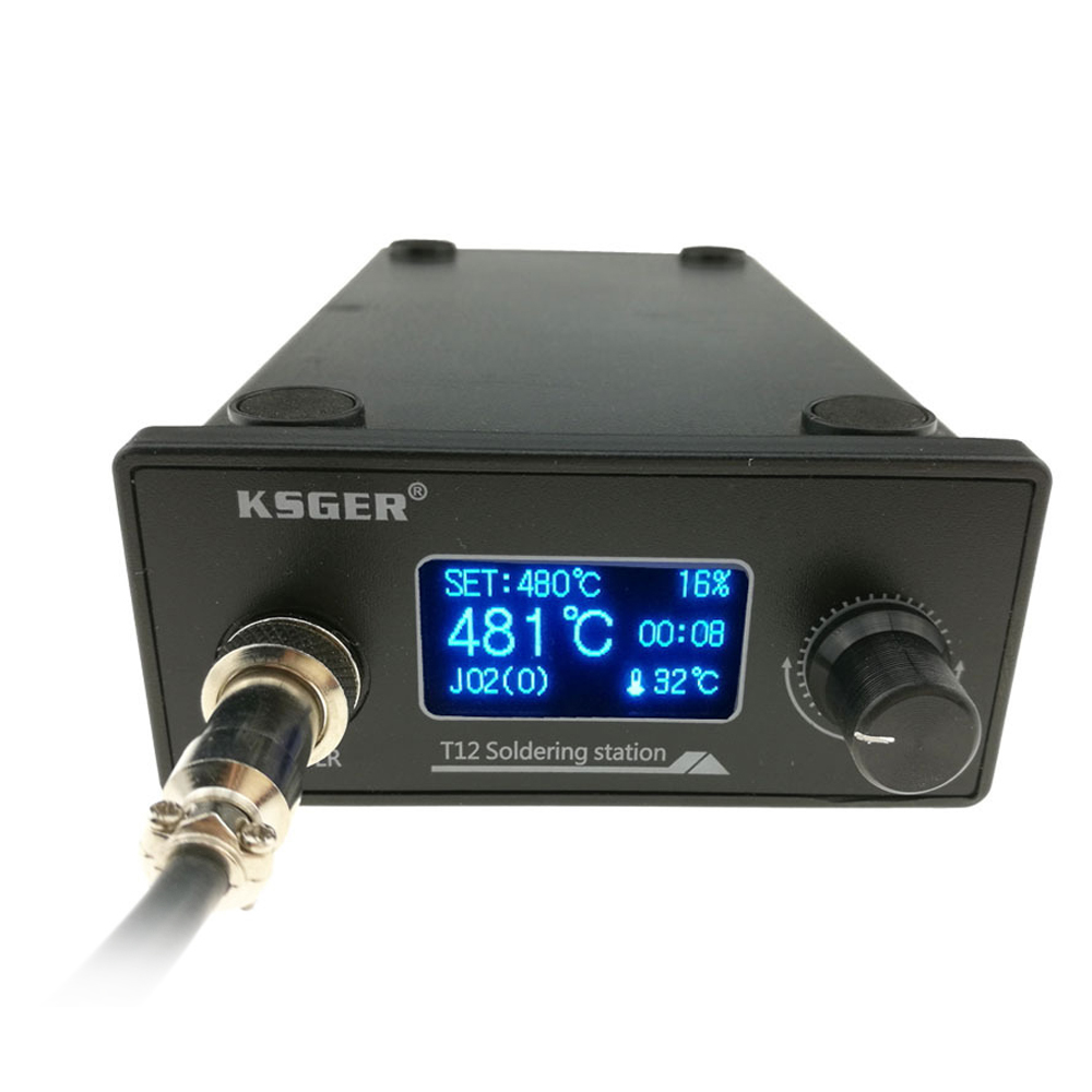 KSGER T12 Soldering Station DIY Kits Electric Soldering Iron Tools Welding Iron Tips Temperature ControllerKSGER T12 Soldering Station DIY Kits Electric Soldering Iron Tools Welding Iron Tips Temperature Controller
