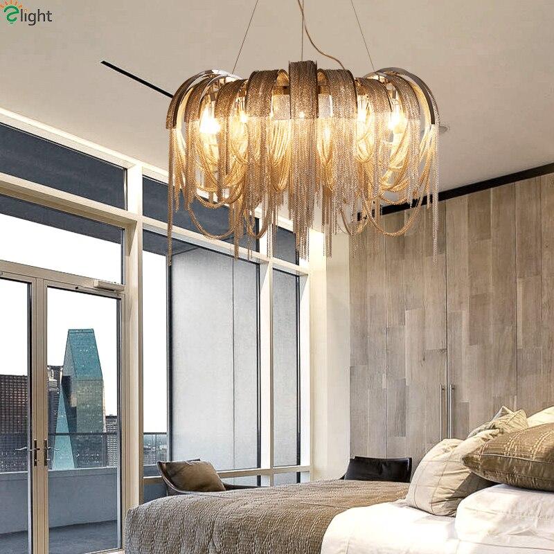 € 506.08 44% de DESCUENTO|Lustre moderno borla LED lámpara colgante luces  comedor LED Candelabros Iluminación salón llevó lámparas colgantes en ...