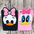 Fashion 3D Cute Cartoon Daisy Duck Soft silicone Rubber Cases Cover For Apple ipad Mini 4 Case For Ipad Mini4 Coque Fundas