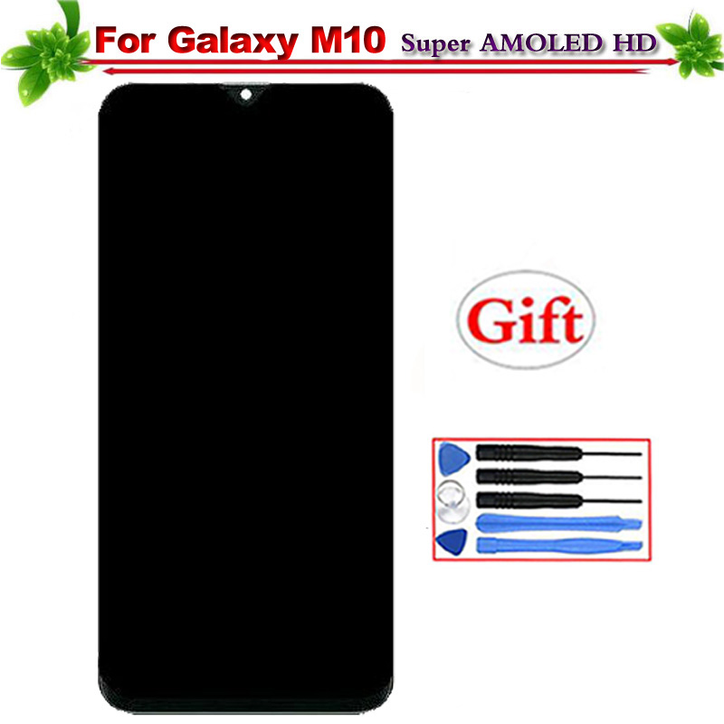 6.22 Super Amoled for Samsung Galaxy M10 2019 SM-105 M105F M105DS LCD Display Touch Screen Digitizer Assembly Replacement6.22 Super Amoled for Samsung Galaxy M10 2019 SM-105 M105F M105DS LCD Display Touch Screen Digitizer Assembly Replacement