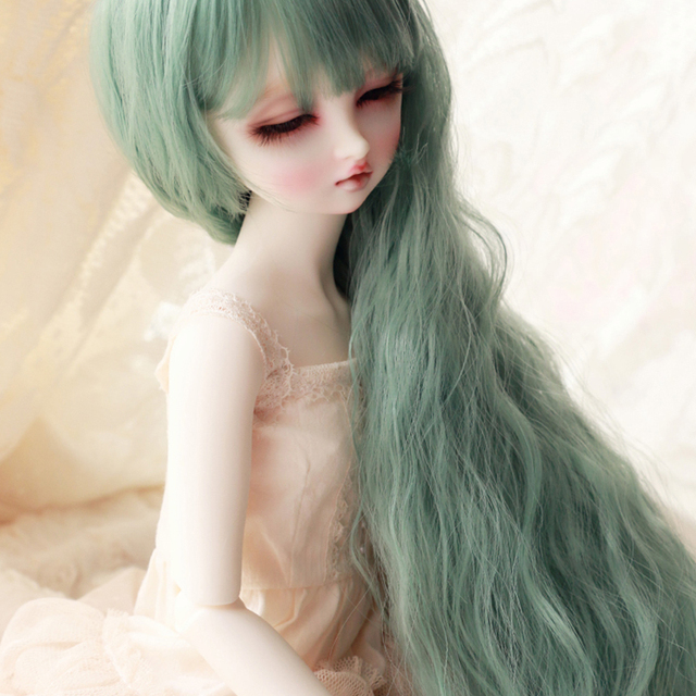 Beautiful BJD 1/3 Accessories Wigs Green Curly Wig Hair For BJD Dolls