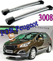 for Peugeot 3008  roof rack/roof rail/roof bar (crossbeam),(slap-up aluminum alloy)Universally used for 2010-2017.free shipping