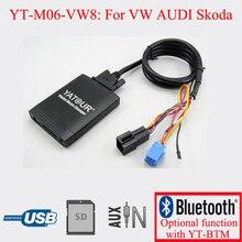 Yatour стерео для автомобиля с USB SD AUX плеер для VW AUDI Skoda Seat 8PIN