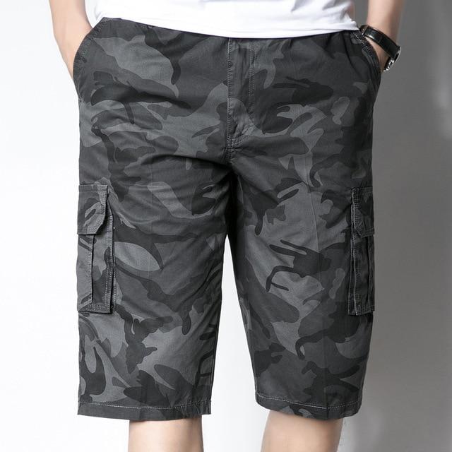 2019 Nova Camuflagem Camo Shorts Da Carga Dos Homens Shorts Casual Masculino Solto Trabalho Shorts Man Militar Calças Curtas Plus Size M-5XL