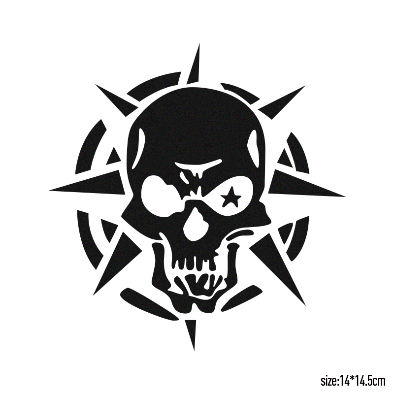 10 Pieces Ghost Rider Ghost Skull Funny Bumper Sticker Eye