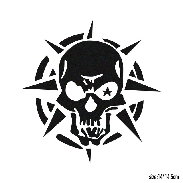 10 pieces ghost rider ghost skull funny bumper sticker eye skull personalized car stickers for all