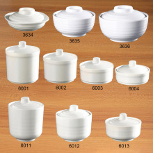 Imitation Porcelain Dinnerware Restaurant Soup Tureen Canteen Cooker A5 Melamine Tableware Slow Wholesale Sale