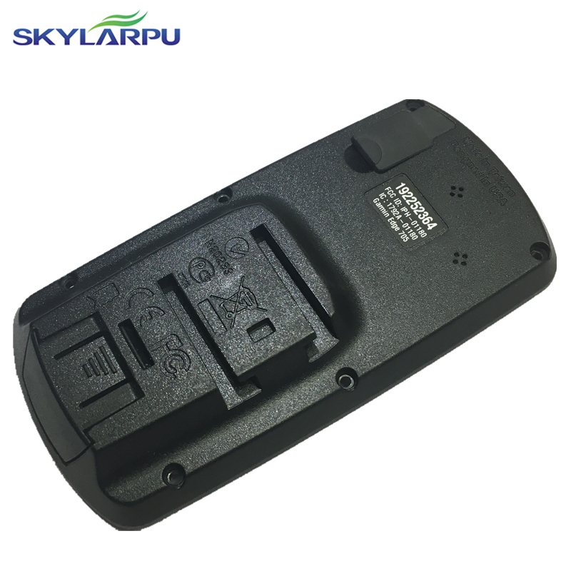 skylarpu black rear cover for GARMIN EDGE 705 bicycle speed meter back cover Without Battery Repair replacement Free shipping bbq fuka rear trunk shade cargo cover fit for 2011 2013 ford edge black