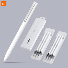 Xiaomi caneta mijia caneta sinal mi canetas com 0.5mm swiss recarga 143mm rolo de rolamento tinta preta xiomi assinatura canetas esferográficas para a escola
