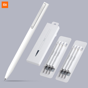 Xiaomi Pen Mijia Pen Sign Mi Pens With 0.5mm Swiss Refill 143mm Rolling Roller Black ink Xiomi Signing Ballpoint Pens for School