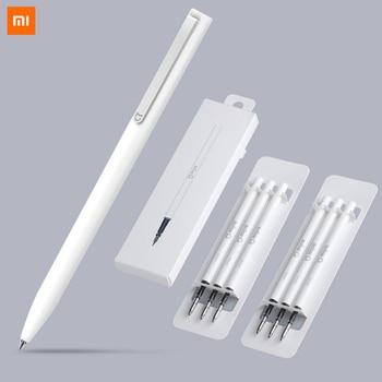 Xiaomi Pen Mijia Pen Sign Mi Pens With 0.5mm Swiss Refill 143mm Rolling Roller Black ink Xiomi Signing Ballpoint Pens for School