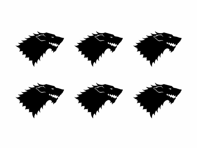 Car Styling For Game Of Thrones Stark House Sigil Small Vinyl Decals