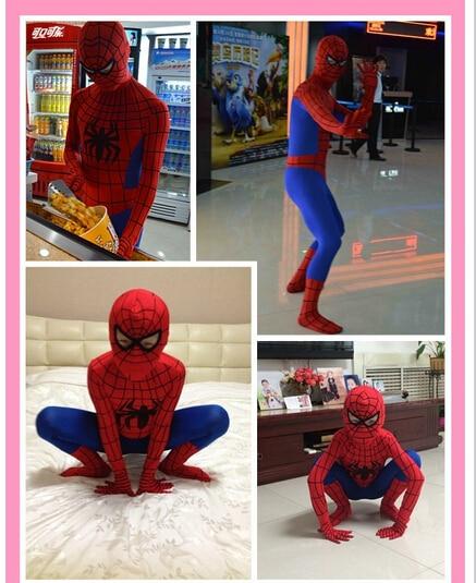90cm-185cm New Halloween Spiderman Cosplay Costume Men Kids And Adult