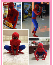 90cm-185cm New Halloween Spiderman Cosplay Costume Men Kids And Adult