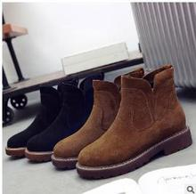 Vintage Martin boots British 2017 women's wind fall and winter thick boots with boots and leather women's boots