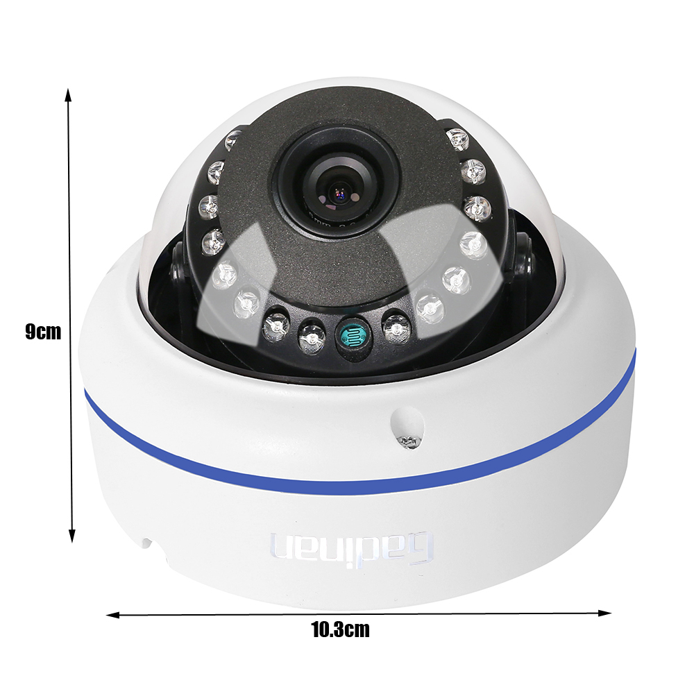 Image 2 - GADINAN HD 5MP 2592*1944 WiFi Wireless ONVIF Dome IP Camera Outdoor Waterproof Security Camera with Built in Micro SD Card Slot-in Surveillance Cameras from Security & Protection