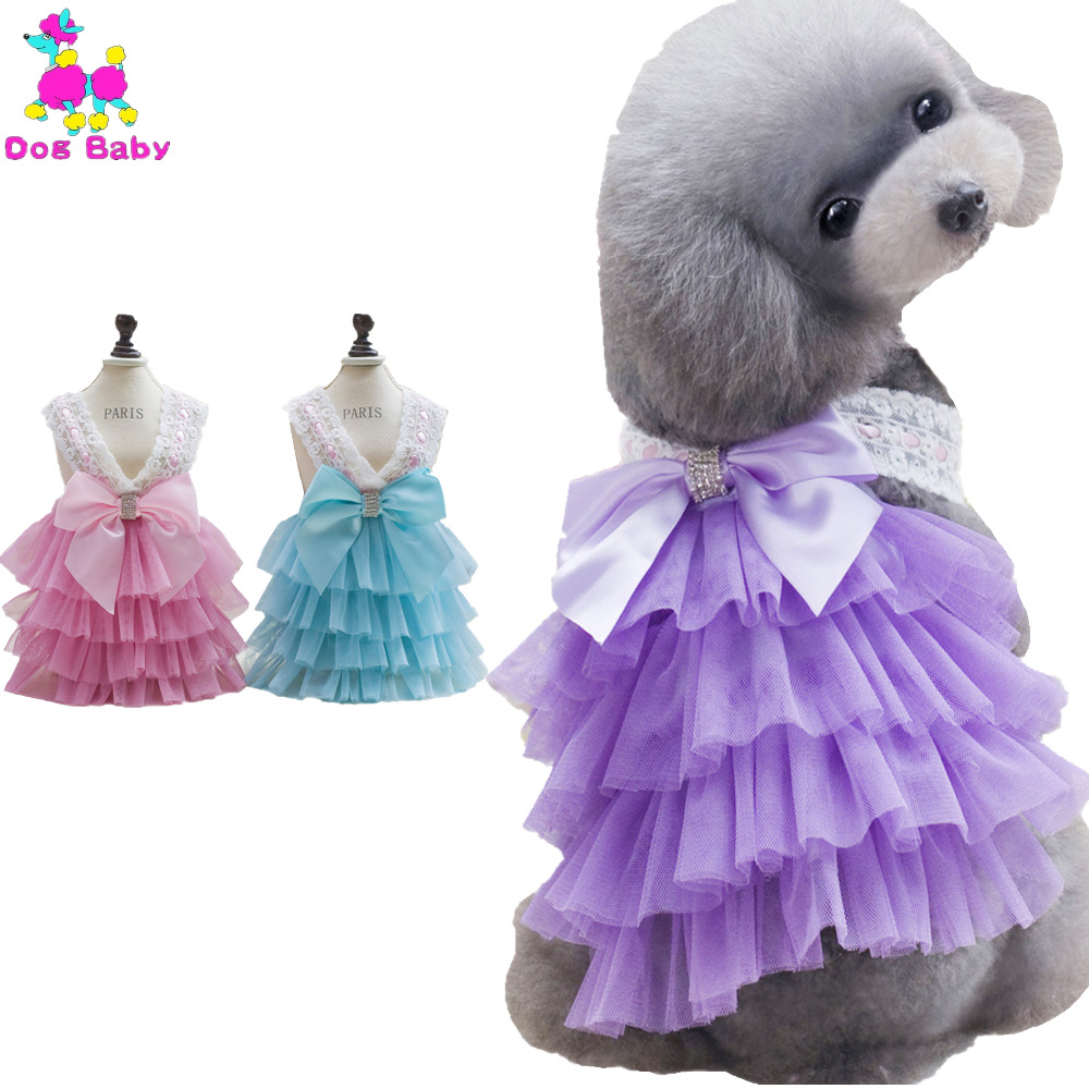 DOGBABY Vestidos de Mascotas Rosa Caliente y Púrpura Vestido de - Productos animales