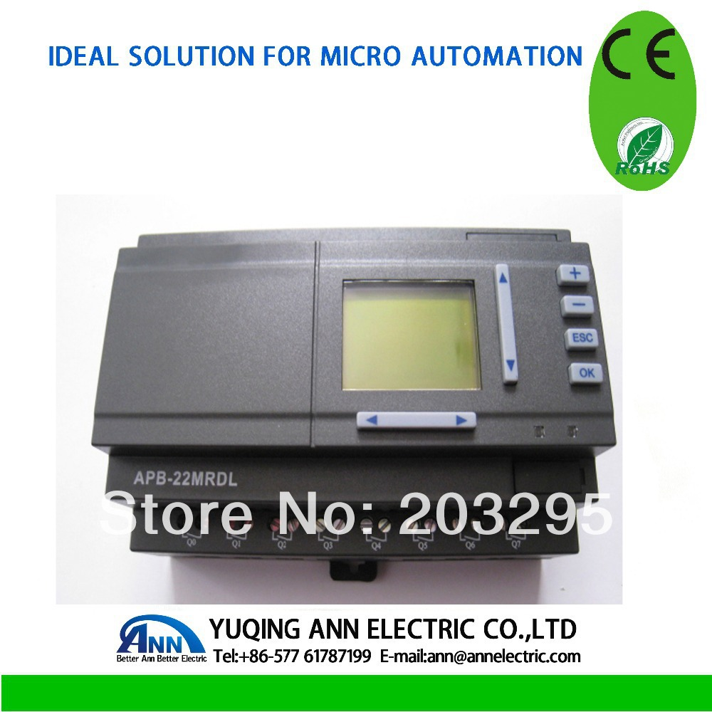 PLC APB-22MRDL with LCD + APB-DUSB cable Programmable Logic Controller цены онлайн