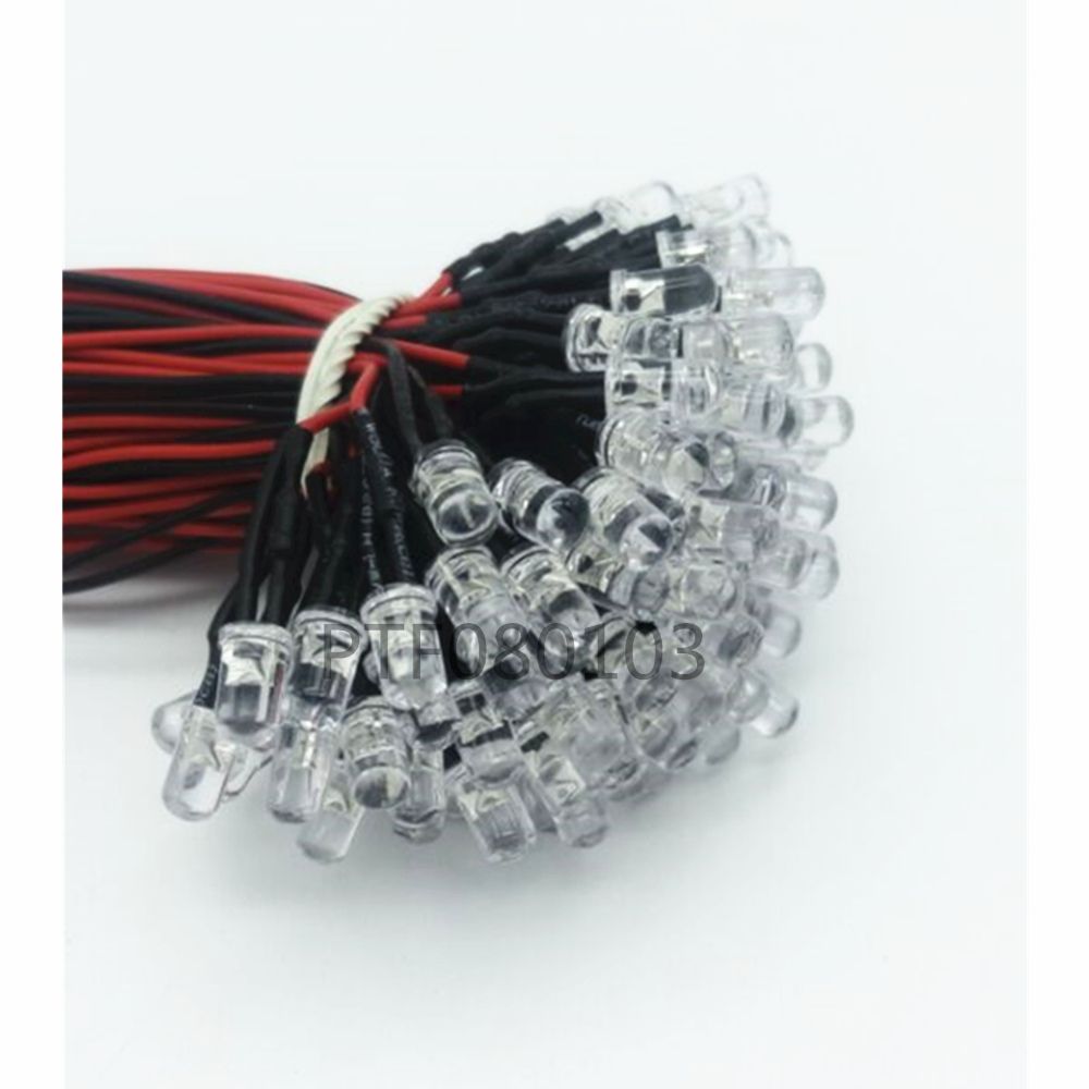 20pcs DC 3 12V LED Diodes 20cm Pre Wired 3MM 5MM LED Light Lamp Bulb Prewired Emitting Diodes For DIY Home Decoration in Light Beads from Lights Lighting