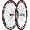 Переднее и заднее углеродное колесо для шоссейного велосипеда  карбоновые колеса 50 мм с Powerway R13 Hub  комплект велосипедных колес