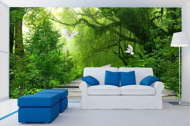 Captivating Customize Wallpaper For Walls 3 D Stereoscopic Wallpaper Fresh Forest Wall  Mural Wallpaper Wall Papers Home Part 26