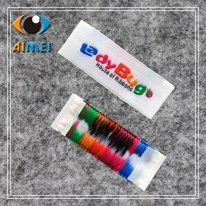 Image 4 - Индивидуальные Швейные бирки высокой плотности для этикеток одежды, дамасская тканая этикетка, Персонализированная бирка с именем для подарков, аксессуары для рукоделия