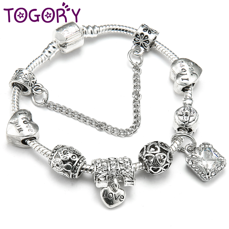Who Sells Pandora Jewelry: TOGORY Aliexpress Hot Sell European Style Silver Color