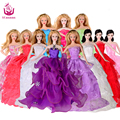 UCanaan Princess Wedding Dresses For Barbie Doll Random Pick Lot 5 Pcs Handmade Party Doll's Clothes Gown Gift Baby Toys