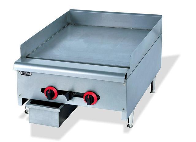 US $664.95 7% OFF|Super qualität commerial edelstahl arbeitsplatte flache  gas bratpfanne küche braten ausrüstung fabrik direkt verkauf in Super ...