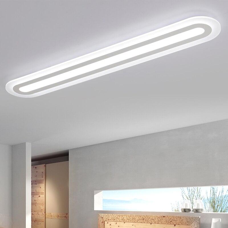 Moderne Acryl LED plafond verlichting Rechthoekige lamp armatuur slaapkamer woonkamer Plafond plafond lampen Home Verlichting Armatuur-in Plafondverlichting van Licht & verlichting op BVLAMSSI Official Store