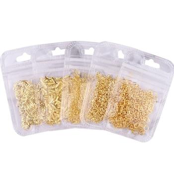 1Pack/500/200Pcs Hollow Metallic Rivet 3D Nail Studs Metal Decoration/ studs 500PCS Gold Silver