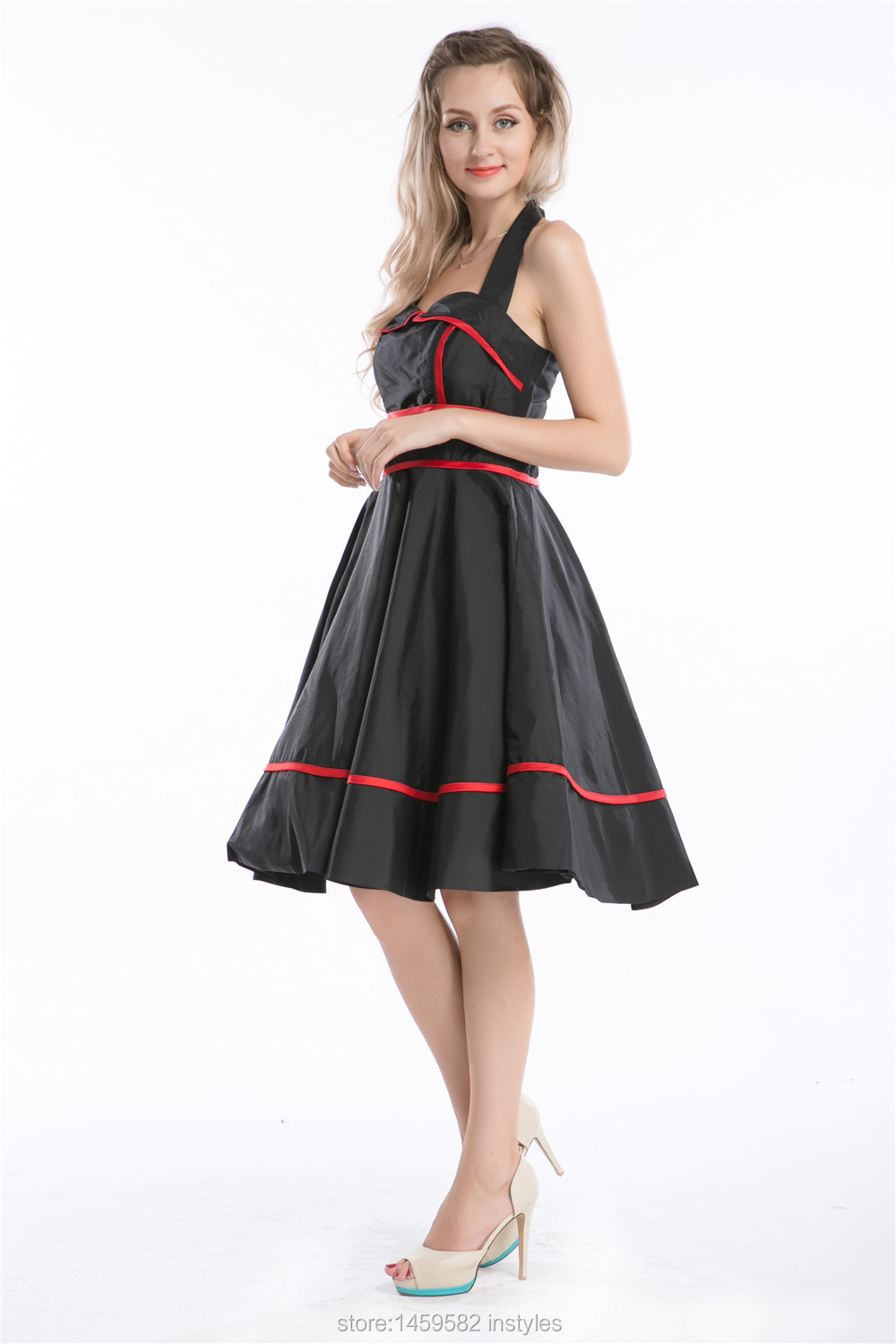 73916a2c891 Vintage Style Swing Dresses Uk