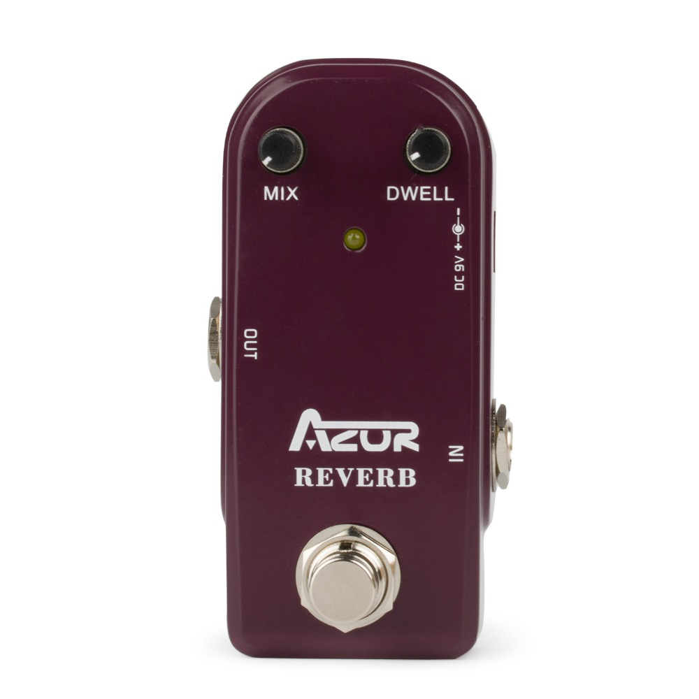 AP-311 Reverb Mini Guitar Effect Pedal with Ture Bypass aroma adr 3 dumbler amp simulator guitar effect pedal mini single pedals with true bypass aluminium alloy guitar accessories