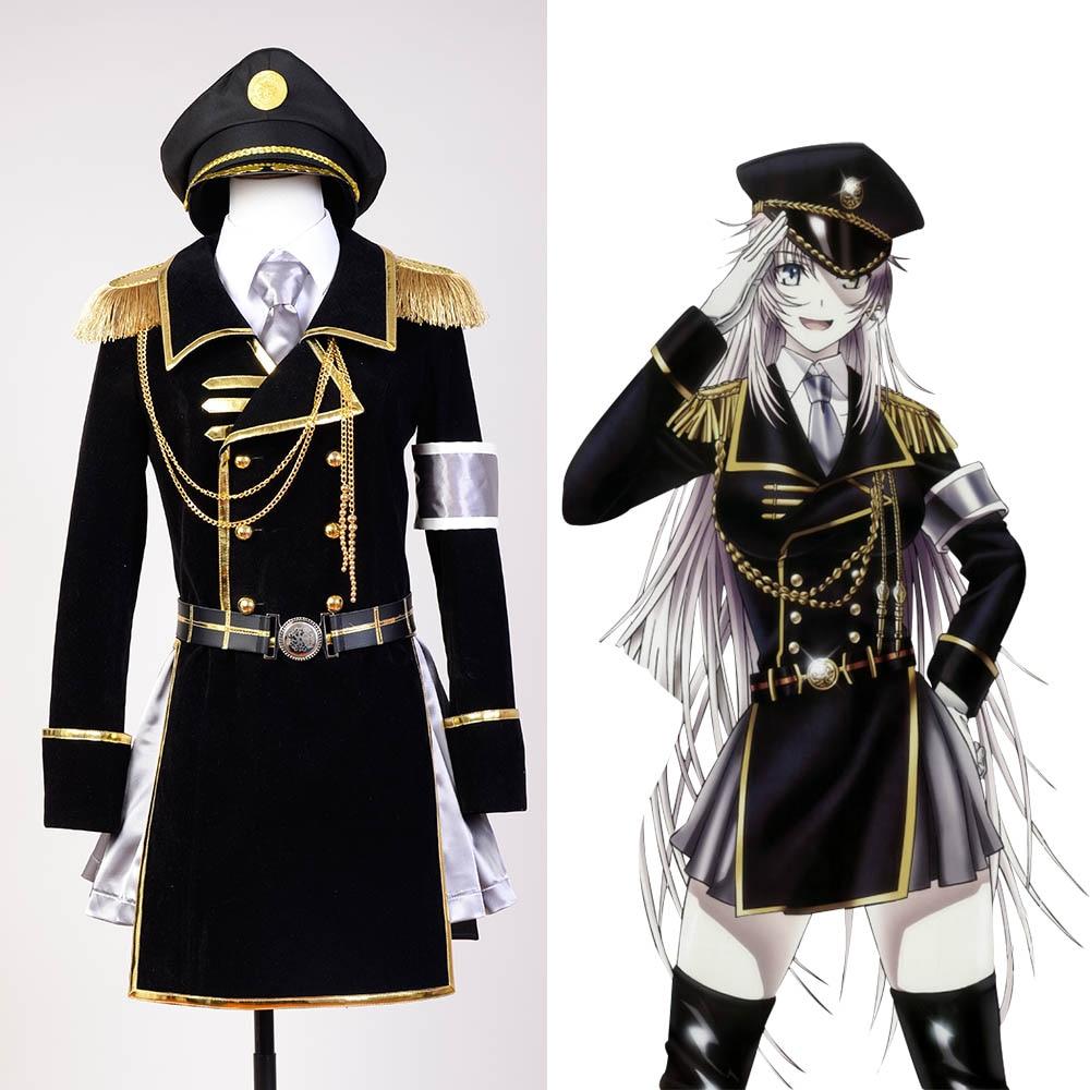 K retour des rois Neko uniforme militaire Costume de Cosplay pour les femmes ensemble complet