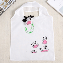 Little Cow Cute Animal Folding Shopping Bag Eco Friendly Ladies Gift Foldable Reusable Tote Portable Travel Shoulder